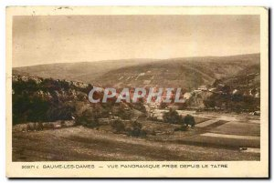Old Postcard Baume les Dames Panoramic view taken from the Tatre