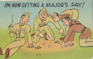 MILITARY COMIC, 1930-40s; Getting a Major's Pay