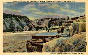 WY - Yellowstone Nat'l Park. Cleopatra Terrace, Mound Terrace  (Haynes)