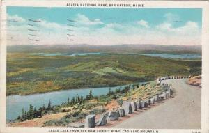 Maine Bar Harbor Acadia National Park Eagle Lake From The New Summit Road Cad...