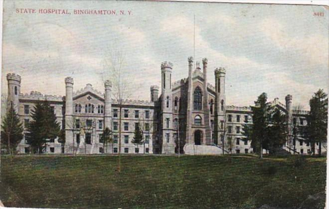 New York Binghamton The State Hospital 1909