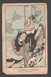093823 WWI FRENCH NAVAL PROPAGANDA Record de la Navigation Old