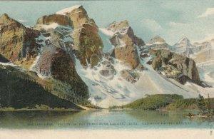 ALBERTA, Canada, 1900-10s; Moraine Lake, Valley of 10 Peaks near Laggan, CPR