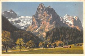 Switzerland Old Vintage Antique Post Card Dossenhorn Wellhorn Wetterhorn Unused