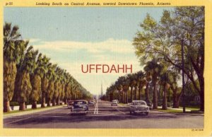 1953 LOOKING SOUTH ON CENTRAL AVENUE, TOWARD DOWNTOWN, PHOENIX, AZ 1953