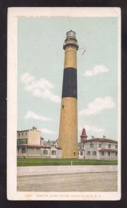 ATLANTIC CITY NEW JERSEY ABSCOM LIGHTHOUSE LIGHT VINTAGE POSTCARD NJ 1904