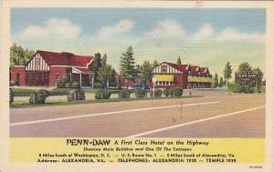 Penn-Daw, Hotel, Alexandria, Virginia,  30-40s