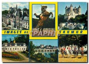 Postcard Modern Anjou Saumur Maine et Loire City Hall a bow Chateau Botanical...