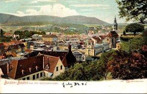Germany Baden Baden von der Schlossterrasse