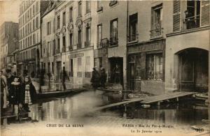 CPA PARIS Crue de la Seine 1910 Rue du Fer-a-Moulin (579733)
