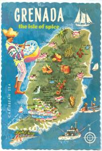 GRENADA, The Isle of Spice, unused Postcard