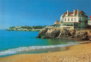 Portugal Cascais Albatroz Beach Sea Waves Postcard
