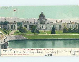 Pre-1907 PARLIAMENT BUILDINGS Victoria - Vancouver British Columbia BC AE9081