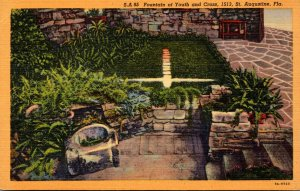 Florida St Augustine Fountain Of Youth and Cross Curteich