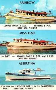 Florida Clearwater Beach Deep Sea Fishing Boats Rainbow Miss Elsie and Albertina
