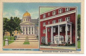 Montpelier, VT - State Capitol and Montpelier Tavern
