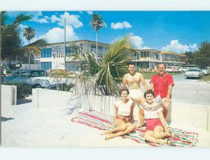 Pre-1980 OLD CARS & GLASSHOUSE APARTMENT MOTEL Clearwater Florida FL M0837