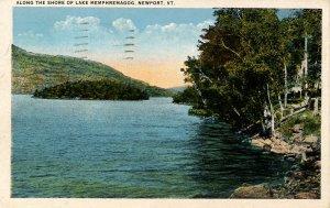 VT - Newport. Lake Memphremagog along the Shore