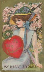 To My Valentine Greetings - My Heart is Yours - pm 1910 - DB
