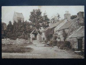 Wales Gwynedd LLANFOR CHURCH & VILLAGE c1920 Postcard by Frith