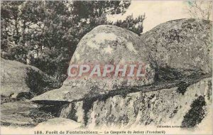 Postcard Old Forest of Fontainebleau The Cap Jockey (Franchard)