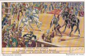 LIebig Trade Card S1452 Four Sons Of Aymon No 3 Combat singulier entre Roland...