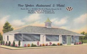 New Yorker Restaurant & Motel Weldon North Carolina 1954