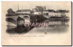 Old Postcard Montereau The bridge & # 39Yonnne and city