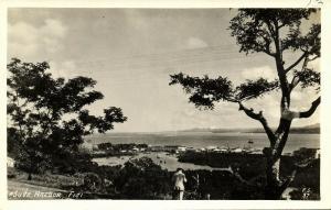 fiji islands, SUVA, Harbour Scene (1930s) RPPC
