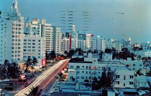 FL - Miami Beach. Collins Avenue at Night