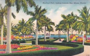 Florida Miami Bayfront Park Looking Towards Bay