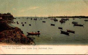 Massachusetts Marblehead The Harbor From Crocker Park Rotograph