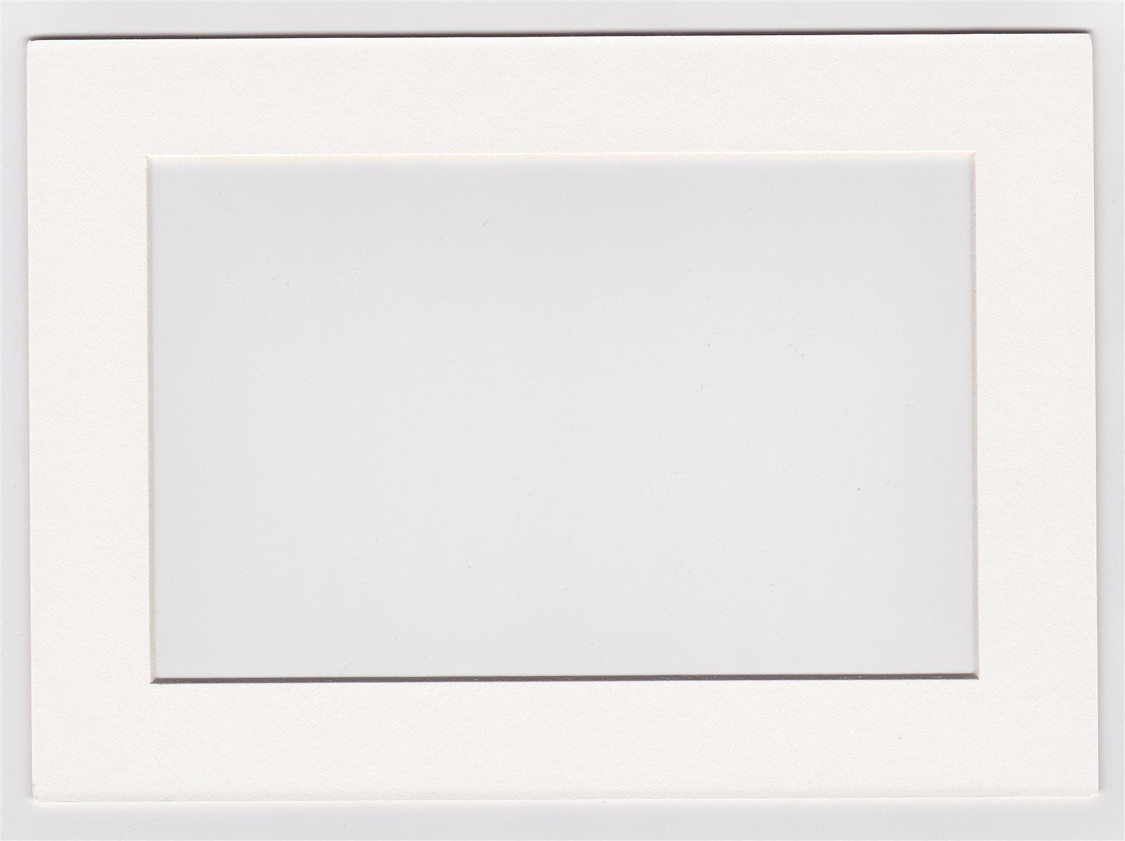 Custom Cut Postcard Mat Fits 5 X7 Frame Cream
