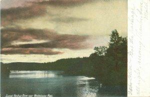 Sunset on the Nashua River Near Westminster, Massachusetts 1906 Postcard