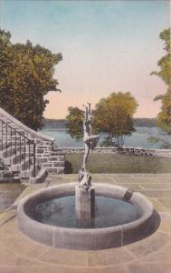 Joy Of The Waters Fountain Valeria Home Oscawana New York Handcolored Albertype