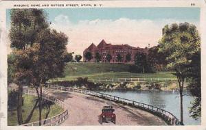New York Utica Masonic Home And Rutger Street 1924
