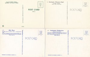 (4 cards) Valley Forge State Park PA Pennsylvania Bell  - Tower Bake House Hqtrs