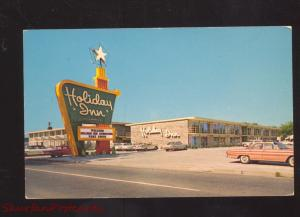 FORT SMITH ARKANSAS HOLIDAY INN DOWNTOWN 1960's CARS ADVERTISING POSTCARD