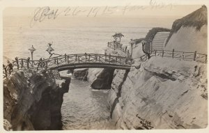 RP: SAN DIEGO , California, 1910s; Sunset Cliffs, Bridge and Walkways