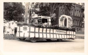 Marion IA? OH? IN? IL? 4-H Clubs Parade Float~Old School~Arch Windows RPPC c1929