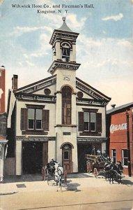 Wiltwick hose company fireman's hall Kingston New York USA Fire Department 1915