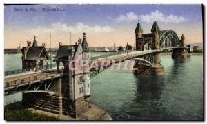 Old Postcard Bonn A Rh Rheinbrucke