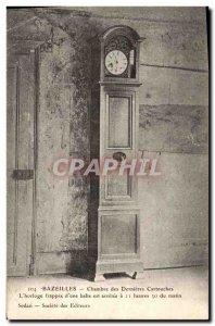 Postcard Old Clock Bazeilles House last cartridges L & # 39hrologe Struck d &...