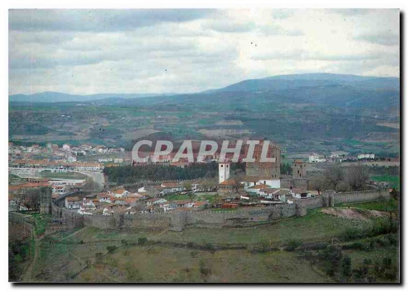 Postcard Modern Braganca Portugal Partial view of Braganca