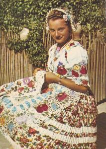 KALOCSA, Hungary, 1950-1970's; Traditional Costume Of Kalocsa