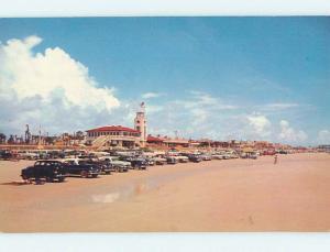 Unused Pre-1980 CARS ON BEACH Jacksonville Florida FL M6656