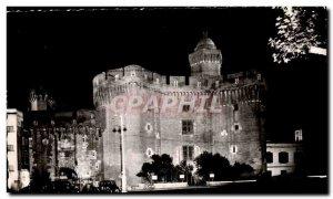 Postcard Modern Perpignan Castillet Night