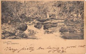 Hot Springs Virginia Lower Cascades Scenic View Antique Postcard K73539