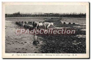 Postcard Collection Of Old Arcachon oysters For The Friage