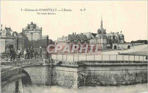 Old Postcard Chateau de Chantilly the entry